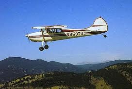 Cessna 170 in the air